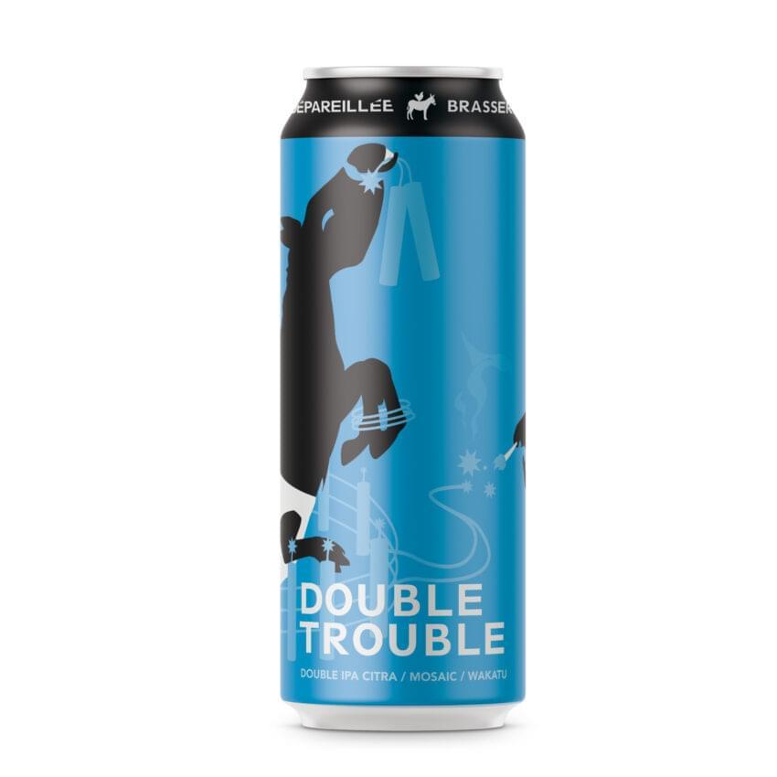 Canette de bière par Brasserie Dépareillée. La Double Trouble.