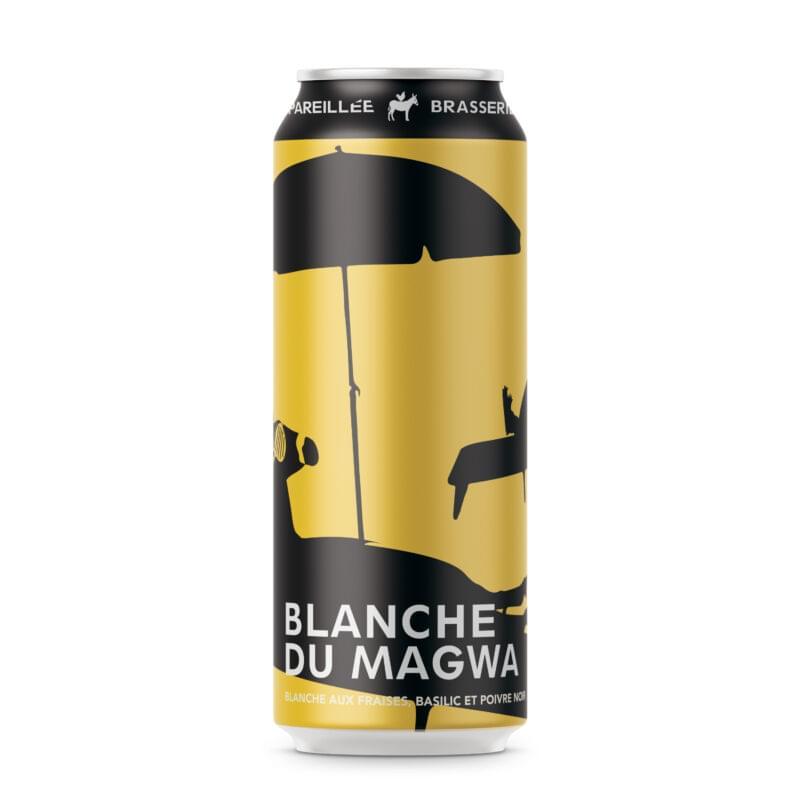 Canette de bière par Brasserie Dépareillée, nommée Blanche du Magwa.
