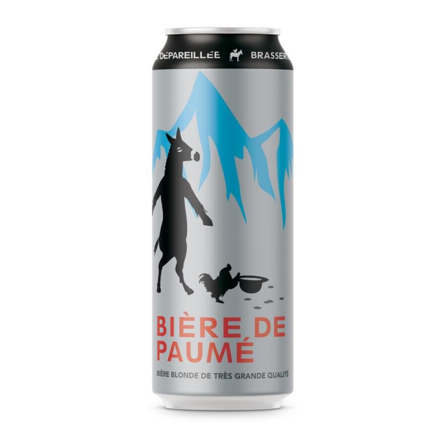 Canette de bière par Brasserie Dépareillée, nommée Bière de Paumé.