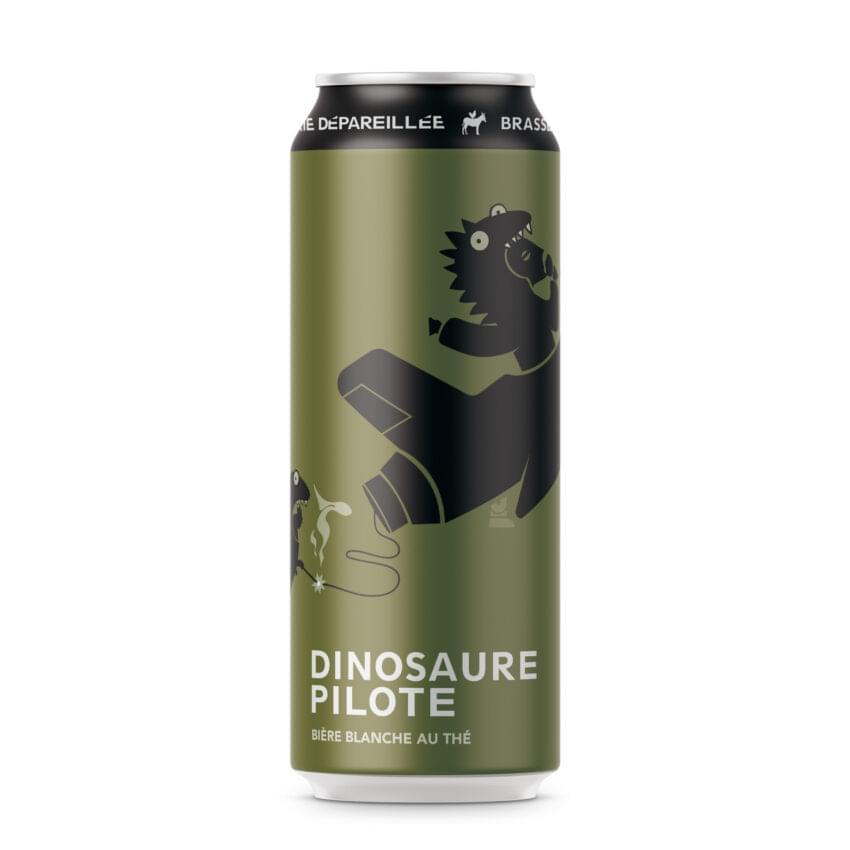 Dinosaure Pilote. Une banche au thé, par Brasserie Dépareillée.